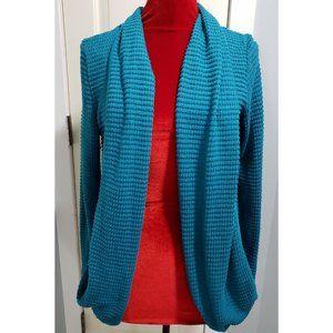 Blue Waffle Knit Cardigan
